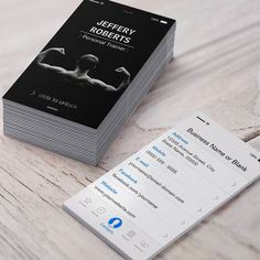 Creative And Unique Bodybuilder Personal Trainer Business Cards
