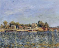 Sevres Bridge, 1877. Alfred Sisley