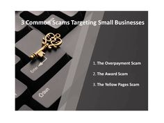 MOBE Scam Tips: 3 Common Scams Targeting Small Businesses :http://mobehowto.com/2016/04/16/mobe-scam-tips-3-common-scams-targeting-small-businesses/
