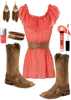 """""""Country Coral...3"""" by kenzie-jo on Polyvore"""