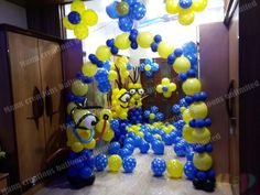 Minions from mann creations balloons unlimited Minion Birthday, It's Your Birthday, Minion Balloons, Art Night, Balloon Decorations, Four Square, Minions, Home Decor, Decoration Home