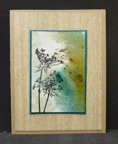 Fennel Silhouette from Stampinback.nl / I Brake For Stamps.  Bister stain background.  Handmade card.