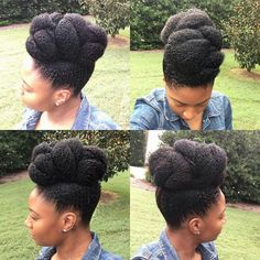 15 Gorgeous Protective Hairstyles Featuring Coily Hair Textures Who says protective styling has to be boring? See 15 gorgeous protective hairstyles that feature women with to hair types. Type 4c Hairstyles, Cute Natural Hairstyles, Natural Hair Updo, Pelo Natural, Natural Hair Growth, Afro Hairstyles, Natural Hair Styles, Au Natural, Natural Baby
