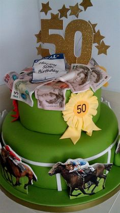 Horse racing birthday cake Food and drinks Pinterest Birthday
