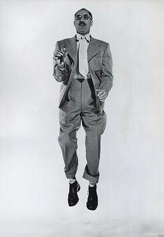 Groucho Marx levitating.