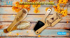 Engraved Wooden Brushes for her for that surprise gift. Check our website for more details : www.printmegiftme.com/9811351676/01142420773.