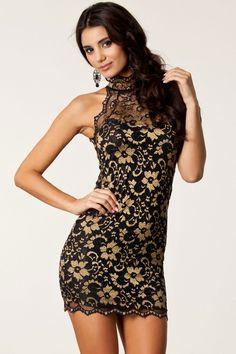 Fashionable Sexy Party Halter Neck Lace Vintage Dress Online Sun Club Dresses