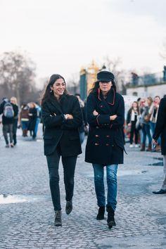 Capucine Safyurtlu & Emmanuelle Alt ... Paris (feb 2014)