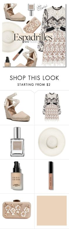"""""""Lace and espadrilles"""" by nineseventyseven ❤ liked on Polyvore featuring Sam Edelman, self-portrait, CLEAN, Bobbi Brown Cosmetics and espadrilles"""