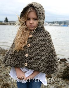 CROCHET Pattern Stoyne Cape 2 3/4 5/7 8/10 by Thevelvetacorn