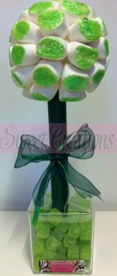 Green Glitter Marshmallow Sweet Tree