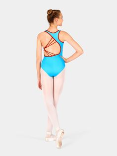 Free Shipping - Adult Asymmetrical Strappy Back Leotard by NATALIE