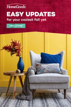 Fall calls for warm tones and cozy decor. At HomeGoods, you'll find fall decor ideas around every corner; like table decor, rugs, and lighting in every style from farmhouse to rustic. Refresh your space with easy updates that make a big style statement all at amazing savings. Interior Columns, Home Interior Design, Furniture Repair, Furniture Makeover, New Living Room, Living Room Decor, Home Upgrades, Farmhouse Chic, Home Remodeling