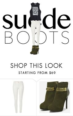 """Style Staple: Suede Boots"" by wweaddict ❤ liked on Polyvore featuring River Island, CHARLES & KEITH and suede"