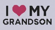 Love My Grandson Cross Stitch Pattern  | Craftsy