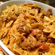South Your Mouth: Italian Sausage and Pasta with Tomato Cream Sauce use cream cheese.