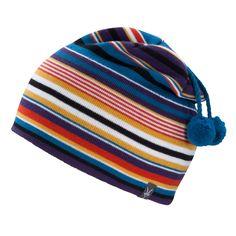 c0576273a0df5 Ibex Merino Wool Women s Stripe Double Pom Beanie Hat