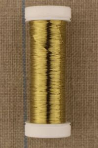 Fine metal thread 0,20mm spool 20m colour gold