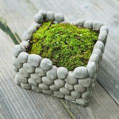 Seulement €16.91 ,acheter Pot de fleur en terre plantes succulentes de pierre carrée flowerpot jardin paysage décoration sur Banggood.comAcheter fashion Pots à Fleurs en ligne.