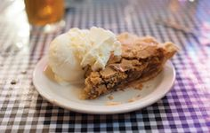 Sawdust Pie and Blue Bell Ice Cream at the Funky Art Cafe in Brenham, TX