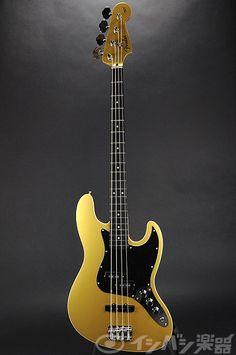 Fender Japan Aerodyne Jazz Bass Guitar Shoreline Gold