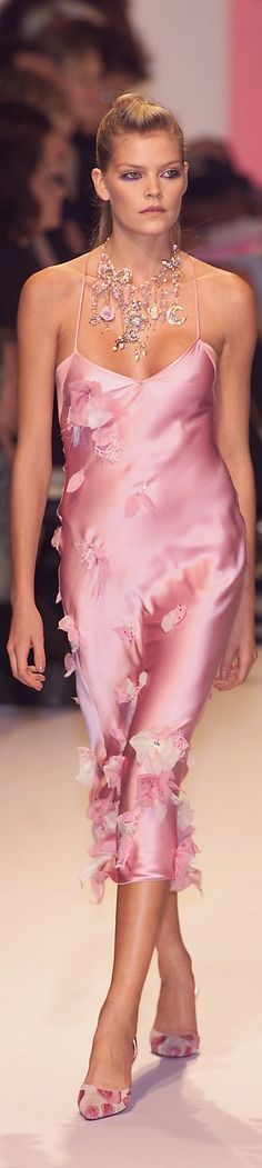 Ungaro Couture ❤ Nothing makes a lady feel more feminine than the sweet innocence of a soft pink dress  or accessories.