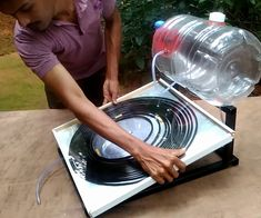 alternative energy How to Make Solar Water Heater: Let's make a solar water heater today. Today, I've a wonderful project to share with you. I love ren