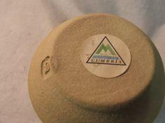 CUMBRIA STUDIO POTTERY - B mark label
