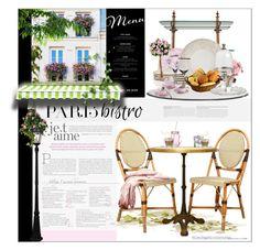 """Parisian Bistro"" by giudittina ❤ liked on Polyvore featuring interior, interiors, interior design, дом, home decor, interior decorating, Olsen, Hedi Slimane, Royal Albert и Tabletops Unlimited"