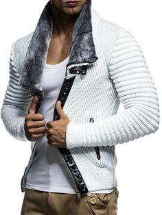 Amazon.com: LEIF NELSON Men's Knitted Jacket Cardigan LN5165: Clothing