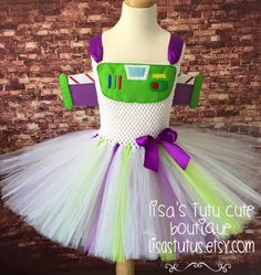 Buzz Lightyear dress buzz lightyear party buzz by LisasTutus Space Costumes, Robot Costumes, Run Disney Costumes, Toy Story Costumes, Running Costumes, Tutu Costumes, Costume Ideas, Buzz Lightyear Costume Toddler, Buzz Lightyear Kostüm