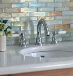 opal iridescent tiles. beauty!