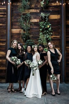 See how wedding planners produced a classic winter wedding at a local winery. Classic Wedding Inspiration, Bridesmaid Inspiration, Minimalist Wedding Invitations, Custom Wedding Invitations, Floral Bridesmaid Dresses, Bridesmaids, Black And White Wedding Theme, Timeless Wedding, Wedding Planners