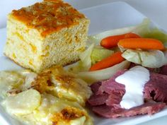 Guinness Corned Beef, Cheddar Soda Bread & Pilsner Parmesan Potatoes!
