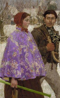 Skaters Gari Melchers (1860-1932) ca. 1892 Oil on canvas: