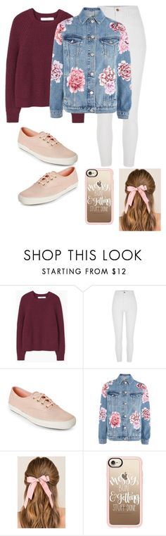 """""""Untitled #275"""" by erumwaseem ❤ liked on Polyvore featuring MANGO, River Island, Keds, Topshop, Francesca's and Casetify"""