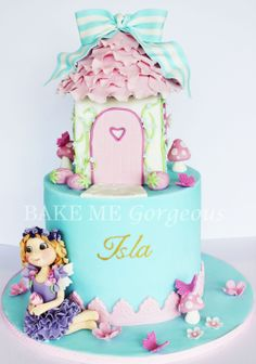 Fairy House Cake  facebook.com/bakemegorgeous