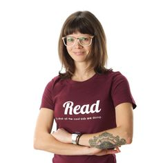 Read Adult Womens Tshirt Literature is Cool Reading Teacher Gift Idea by ShopGibberish on Etsy https://www.etsy.com/listing/90102258/read-adult-womens-tshirt-literature-is