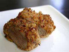 Panko mustard pork tenderloin