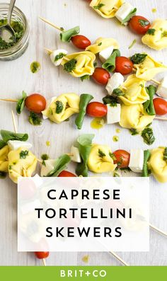 These herby caprese tortellini skewers are perfect for your Memorial Day BBQ.