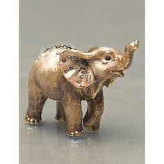 """Ruby"" Elephant Mini Figurine by Jay Strongwater at Horchow. *trunk up for good luck Elephant Parade, Elephant Ears, Elephant Love, Elephant Stuff, Elephant Gifts, Elefante Dumbo, Porcelain Dolls Value, Jay Strongwater, Traditional Artwork"