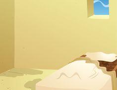 Printable puppet background for preschoolers to use in Kiddie Tales day 3--Jairus' daughter's bedroom