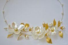 Pedazo de pelo de flor boda diadema Flor nupcial por TopGracia