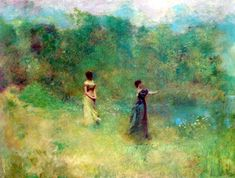 Thomas Wilmer Dewing, Summer, 1890, Smithsonian American Art Museum
