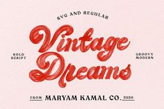 Vintage Dreams Modern Groovy Font Groovy Font, Retro Font, Lightroom, Photoshop, Handwritten Fonts, Typography Fonts, Hand Lettering, Typography Alphabet, Visual Identity