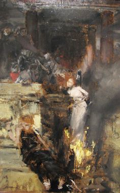 "ex0skeletal: "" ""The Burning of a Witch by Albert von Keller "" """