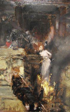 Albert Von Keller - Burning of a Witch