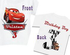 Disney Cars Birthday Shirt