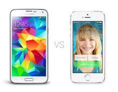 Galaxy S5 vs iPhone 5S - http://mobilephoneadvise.com/galaxy-s5-vs-iphone-5s