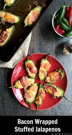 These bacon wrapped cheese stuffed jalapeños are a delicious low carb and Paleo appetizer or snack. So easy to make and you can even freeze them and cook later.